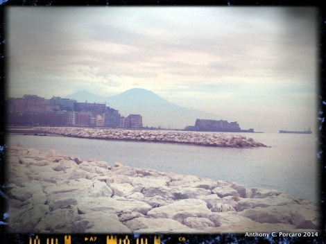 Naples' sea side view